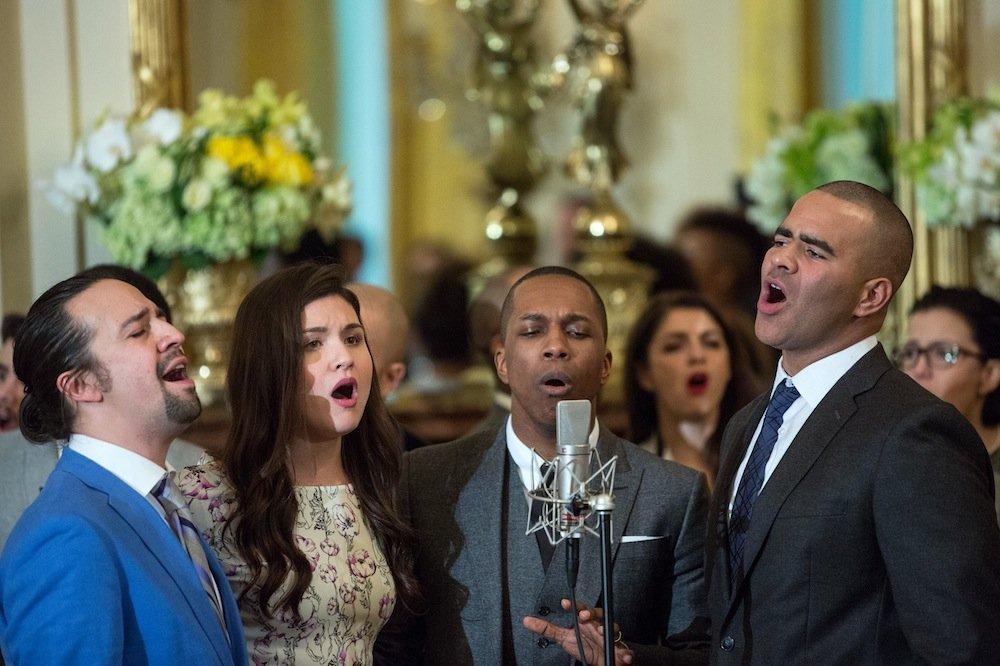 Hamilton Cast Singing