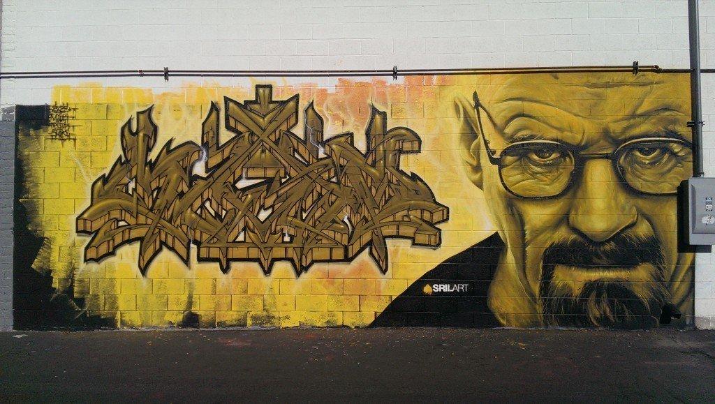 Mural of Walter White in Breaking Bad