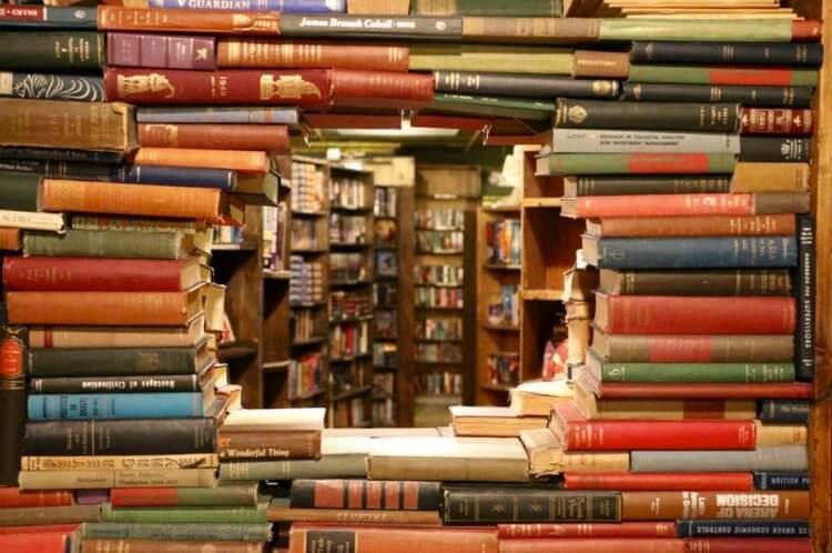 Hole through bookshelf